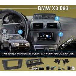 BMW X3 (E83) - 2DIN KIT RADIO UNIVERSAL