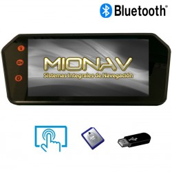 "MONITOR RETROVISOR 7"": BLUETOOTH, A2DP, USB, SD,... AV IN + CAM IN (12/24V)"