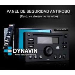 """PANEL """"ANTIRROBO"""", 2DIN DE PVC. PANEL DISUASORIO PARA RADIOS CON PANTALLA"""