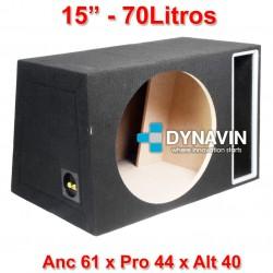 """CON PASO DE BANDA: 15"""", 70Li. Anc 61 x Pro 44 x Alt 40"""