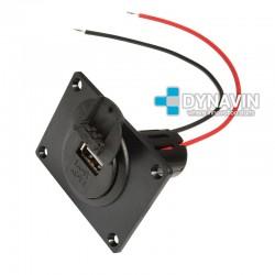 MINI-CARGADOR UNIVERSAL PARA EMPOTRAR 1 x USB: 12/24V. OUT 5V 3000mA