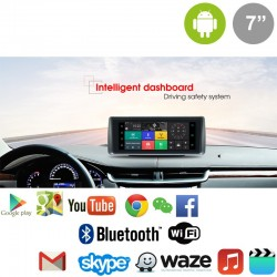 "SMART MONITOR 7"" GPS ANDROID, MIRROR LINK, DVR, CAMARA TRASERA"