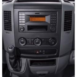 MB SPRINTER, VW CRAFTER - MARCO ADAPTADOR 1 Y 2 DIN CON PORTAOBJETOS