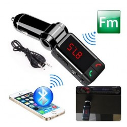 BLUETOOTH CON MP3 12V FMTx - 2 x USB (5V/2A), JACK