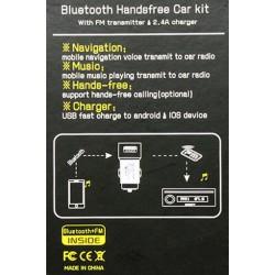 BLUETOOTH CON MP3 12V FMTx - USB (5V/2A)