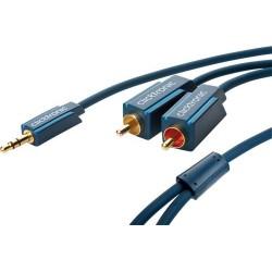 JACK TIPO 26 - CABLE CONVERSOR ADAPTADOR DE JACK 3,5MM MACHO A 2 RCA MACHO HIGH QUALITY MARCA CLICKTRONIC