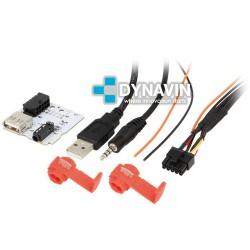 CONECTOR USB Y AUXILIAR - INTERFACE PARA KIA Y HYUNDAI