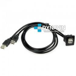 PROLONGADOR USB DE ENCASTRE TIPO CLICK