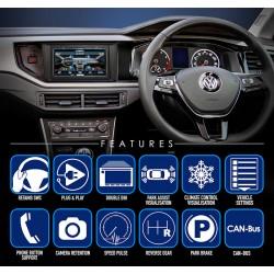 VW MIB/PQ, SEAT, SKODA MIB2 - INTERFACE MANDOS DEL VOLANTE, E INFORMACION ORIGEN EN PANTALLA