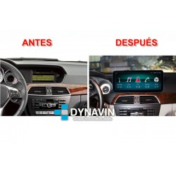MERCEDES CLASE C W204 (+06/2011) - ANDROID 10,25""