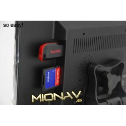 """MONITOR 9"""": AV IN + CAM IN. SD, USB"""