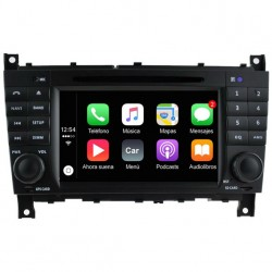 Radio 2din Android 10 GPS Octacore 64GB FLASH. Android car dvd Mercedes C W203 y restyling CLC, Sportcoupe, CLK W209