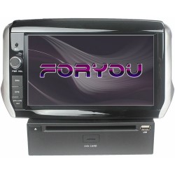 PEUGEOT 208, 2008 (+2012) - 2DIN GPS HD USB SD DVD BLUETOOTH