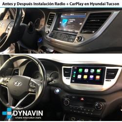Antes y Después Radio en HYUNDAI TUCSON +2016