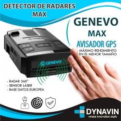 GENEVO MAX AVISADOR + DETECTOR DE RADARES SIN INSTALACION