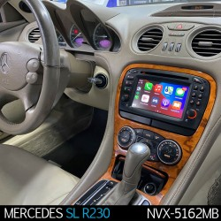 MERCEDES SL R230 (2001-2012) - 2DIN GPS USB, SD, CD, DVD...