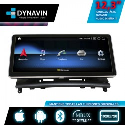"2din Android pantalla táctil CarPlay Mercedes NTG 4.0 gps lcd 10,25"" Clase C W204 2007 2008 2009 2010 2011"