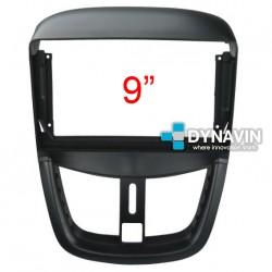 Soporte y marco fascia 2din 9DIN, 10DIN para pantalla android car play Peugeot 207