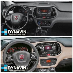 Radio 2din Android GPS Octacore 4GB RAM, 64GB ROM INAND FLASH. Android car dvd Fiat Dobló 2015 2016 2017 2018 2019