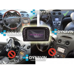 MERCEDES SL R230 (2001-2012) - 2DIN GPS USB, SD, CD, DVD...