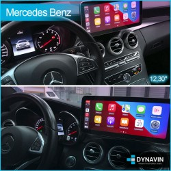 "2din Android pantalla táctil CarPlay Mercedes NTG 4.5 gps lcd 10,25"" Clase C W204 2012, 2013, 2014"