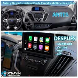 Radio gps 2din gps Car Play, Android auto, mirror link Ford Transit Tourneo Custom 2012, 2013, 2014, 2015, 2016, 2017