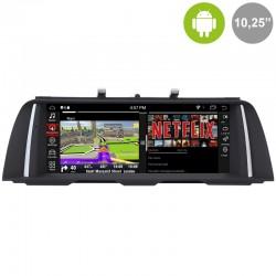 "BMW Serie 5 F10, F11 pantalla táctil NBT 2015 10,25"" gps Android mandos del volante, usb, car play. Radio Profesional"