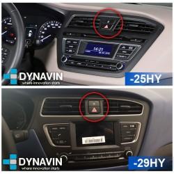 Soporte y marco fascia 2din 9DIN, 10DIN para pantalla android car play Hyundai i20 Facelift 2017 2018 2019 2020