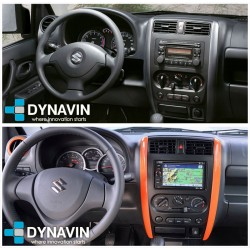 Soporte de montaje, marco de plastico instalacion radio 1din gps universal en Suzuki Jimny 2008, 2010, 2012, 2014, 2016