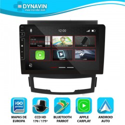 Dynavin N7X 2din integrado CarPlay, Android Auto, GPS, cámara Ssang Yong Korando 2010, 2011, 2012, 2013, 2014