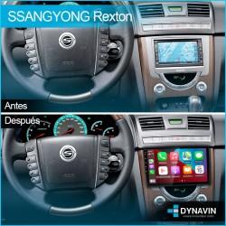 Pantalla Android Octacore 4-64GB, 6-128. Cámara CarPlay Android Auto Ssang Yong Rexton 3 2012 2013 2014 2015 2016