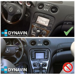 Pantalla Multimedia Dynavin-MegAndroid Android Auto CarPlay Mercedes Benz SL R230 2001, 2003, 2004, 2007, 2009