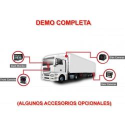 Kit cámara visión trasera para camión conector profesional waterproof 12-24V DC incluye cámara autobús, cableado 15m