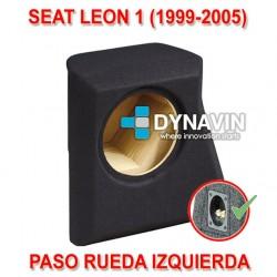 SEAT LEON 1 (1999-2006) - CAJA ACUSTICA PARA SUBWOOFER ESPECÍFICA PARA HUECO EN EL MALETERO
