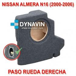 NISSAN ALMERA N16 (2000-2006) - CAJA ACUSTICA PARA SUBWOOFER ESPECÍFICA PARA HUECO EN EL MALETERO