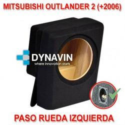 MITSUBISHI OUTLANDER 2 (2006-2013) - CAJA ACUSTICA PARA SUBWOOFER ESPECÍFICA PARA HUECO EN EL MALETERO