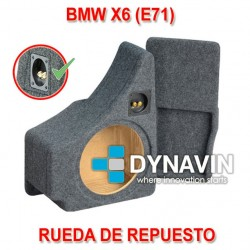 BMW E71, X6 (+2007) - CAJA ACUSTICA PARA SUBWOOFER ESPECÍFICA PARA HUECO EN EL MALETERO