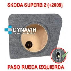 SKODA SUPERB 2 (+2008) - CAJA ACUSTICA PARA SUBWOOFER ESPECÍFICA PARA HUECO EN EL MALETERO
