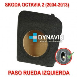 SKODA OCTAVIA 2 (2004-2013) - CAJA ACUSTICA PARA SUBWOOFER ESPECÍFICA PARA HUECO EN EL MALETERO