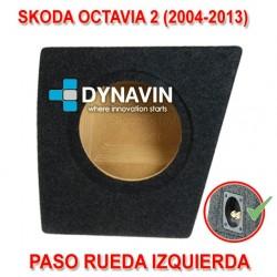 SKODA OCTAVIA 2, KOMBI (2004-2013) - CAJA ACUSTICA PARA SUBWOOFER ESPECÍFICA PARA HUECO EN EL MALETERO