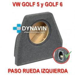 VW GOLF MK6 Y GOLF MK6 (2004-2013) - CAJA ACUSTICA PARA SUBWOOFER ESPECÍFICA PARA HUECO EN EL MALETERO