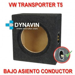 VW TRANSPORTER, T5 - CAJA ACUSTICA PARA SUBWOOFER ESPECÍFICA PARA HUECO BASO EL ASIENTO DEL CONDUCTOR