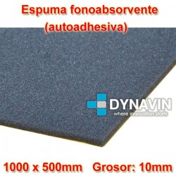 ESPUMA FONO-ABSORVENTE: 1000x500. Grosor 10mm. INSONORIZACION CAR AUDIO