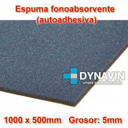 ESPUMA INSONORIZANTE, FONO-ABSORVENTE: 1000x500. Grosor 5mm.