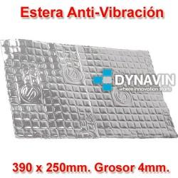 LAMINA DE GOMA DE BUTILO ANTI VIBRACION: 390x250. Grosor 2mm.
