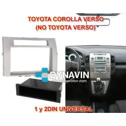TOYOTA COROLLA VERSO (+2007) - MARCO ADAPTADOR 1 y 2DIN UNIVERSAL