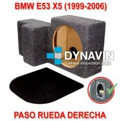 BMW X5 E53 - CAJA ACUSTICA PARA SUBWOOFER ESPECÍFICA PARA HUECO EN EL MALETERO