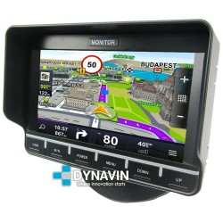 """MONITOR 7"""": 4 AV IN + GPS TÁCTIL. 12/24V. 4PIN PRO"""