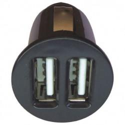 MINI-CARGADOR DE MECHERO 2 x USB: 12/24V. OUT 5V 1000mA