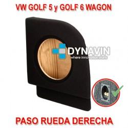 VW GOLF MK5 Y GOLF MK6 WAGON (2004-2013) - CAJA ACUSTICA PARA SUBWOOFER ESPECÍFICA PARA HUECO EN EL MALETERO
